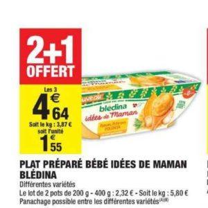 Bols Idées de Maman Blédina chez Carrefour Market (01/10 – 13/10)