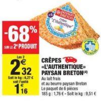 Crêpes Paysan Breton chez Carrefour Market (24/09 – 06/10)