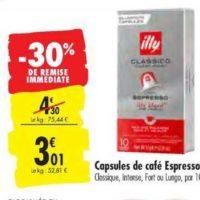 Café en capsules Illy chez Carrefour (17/09 – 23/09)