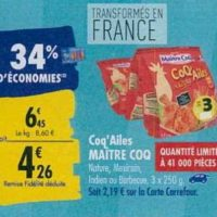 Coq'ailes Maître Coq chez Carrefour (23/09 – 30/09)