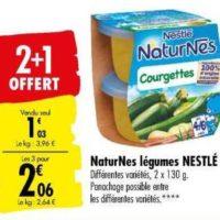 Naturnes Légumes Nestlé Bébé chez Carrefour (17/09- 07/10)