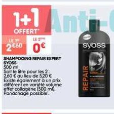 Shampoing Syoss chez Leader Price (17/09 – 29/09)