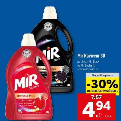 Lessive Liquide Mir chez Lidl (11/09- 17/09)