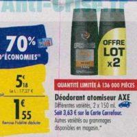 Déodorant Axe chez Carrefour (23/09 – 30/09)