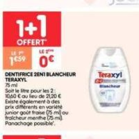 Dentifrice Teraxyl chez Leader Price (24/09 – 06/10)