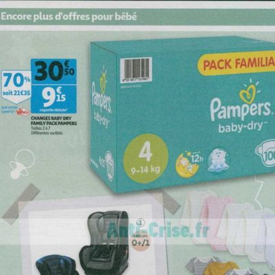 Couches Baby-Dry Pampers chez Auchan (11/09- 17/09)