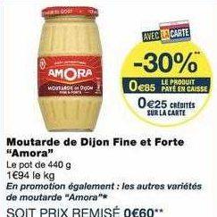 Moutarde Amora chez Monoprix (13/09- 22/09)