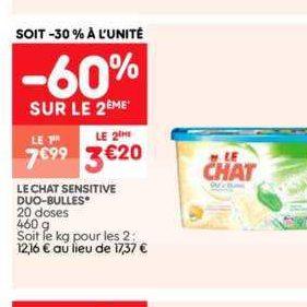 Lessive en capsules Le Chat chez Leader Price (10/09 – 22/09)