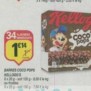 Barres Coco Pops Kellogg's chez Netto (17/09 – 29/09)