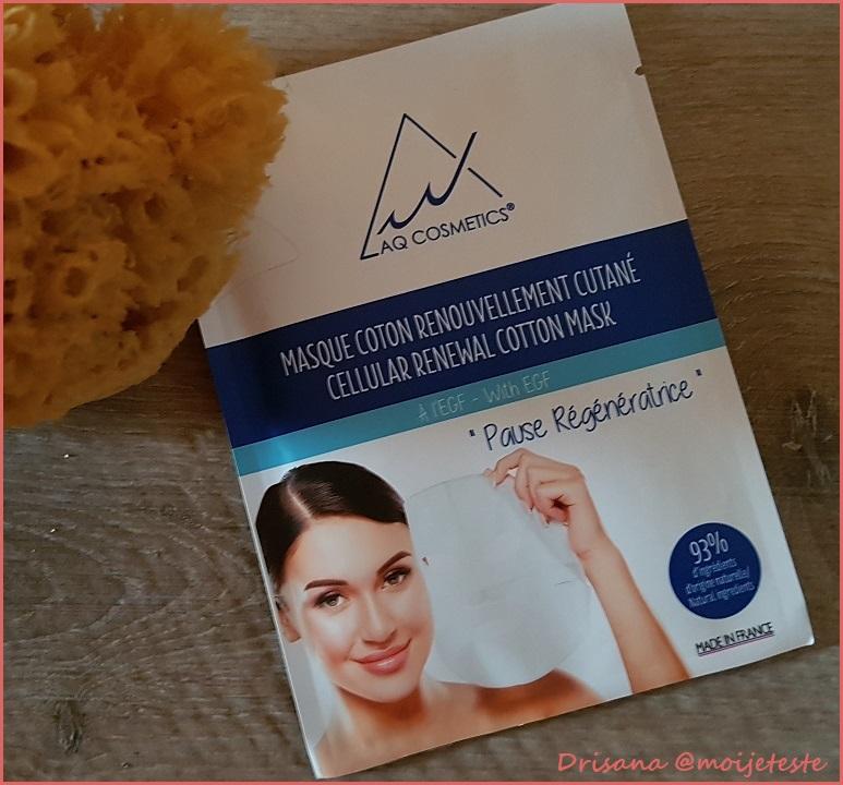 Testé Pour Vous : Masque Coton Renouvellement Cutané AQ Cosmetics