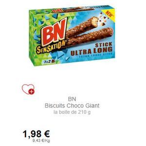 BN Sensation Sticks ou Barres partout (24/09 – 28/10)