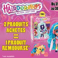 Offre de Remboursement Giochi Preziosi : 2ème Produit Hairdorables 100% Remboursé