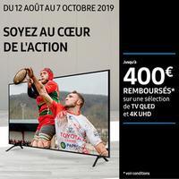 Offre de Remboursement Samsung : Jusqu'à 400€ Remboursés sur TV QLED et 4K UHD