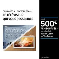 Offre de Remboursement Samsung : Jusqu'à 500€ Remboursés sur Téléviseur QLED