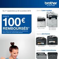 Offre de Remboursement Brother : Jusqu'à 100€ Remboursés sur Machine avec ou sans son Consommable