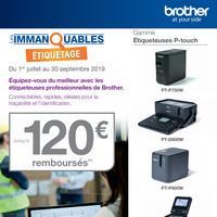 Offre de Remboursement Brother : Jusqu'à 120€ Remboursés sur Étiqueteuses Professionnelles