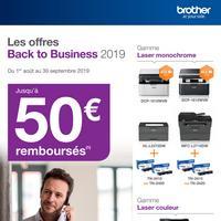 Offre de Remboursement Brother : Jusqu'à 50€ Remboursés sur Imprimante Laser avec son Consommable
