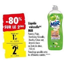 Liquide Vaisselle Mir chez Carrefour (10/09 – 23/09)