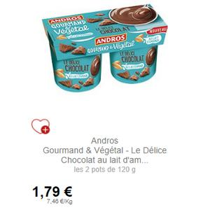 Dessert Gourmand & Végétal Le Delice Andros partout