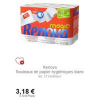 Papier Toilette Magic 4D Renova (26/10)
