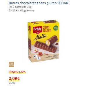 Barres Chocolatées sans Gluten Schär chez Carrefour Market (11/09 – 15/09)