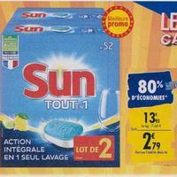 Tablettes Lave-vaisselle Sun chez Carrefour (23/09 – 30/09)