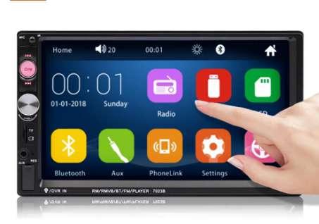25€ l'autoradio Bluetooth avec écran 7 pouces couleur iMars 7023B