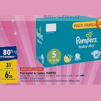 Couches Baby-Dry Pampers chez Carrefour (23/09 – 30/09)