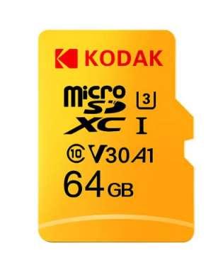 Moins de 10€ la carte mémoire micro sd 64go Kodak