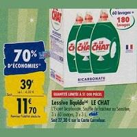 Lessive Liquide Le Chat chez Carrefour (23/09 – 30/09)