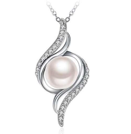 10,9€ le collier en argent avec pendentif avec perle
