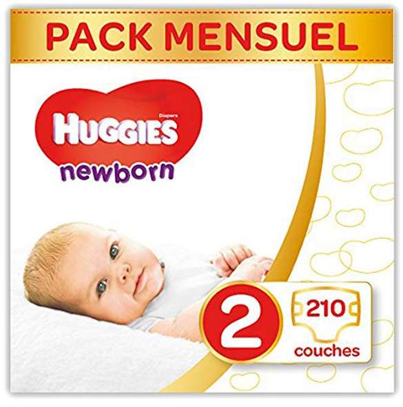 Packs couches Huggies pas chers en cumulant deux promotions (45+40%)