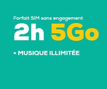 La Poste : Forfait Mobile à4.99€ 2h+sms mms +5go + musique illimitée