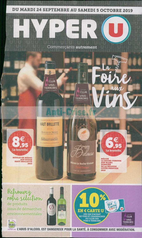 Catalogue Hyper U Du 24 Septembre Au 05 Octobre 2019 Foire Aux Vins Catalogues Promos Bons Plans Economisez Anti Crise Fr