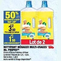 Nettoyant Mr Propre chez Carrefour Market (17/09 – 29/09)