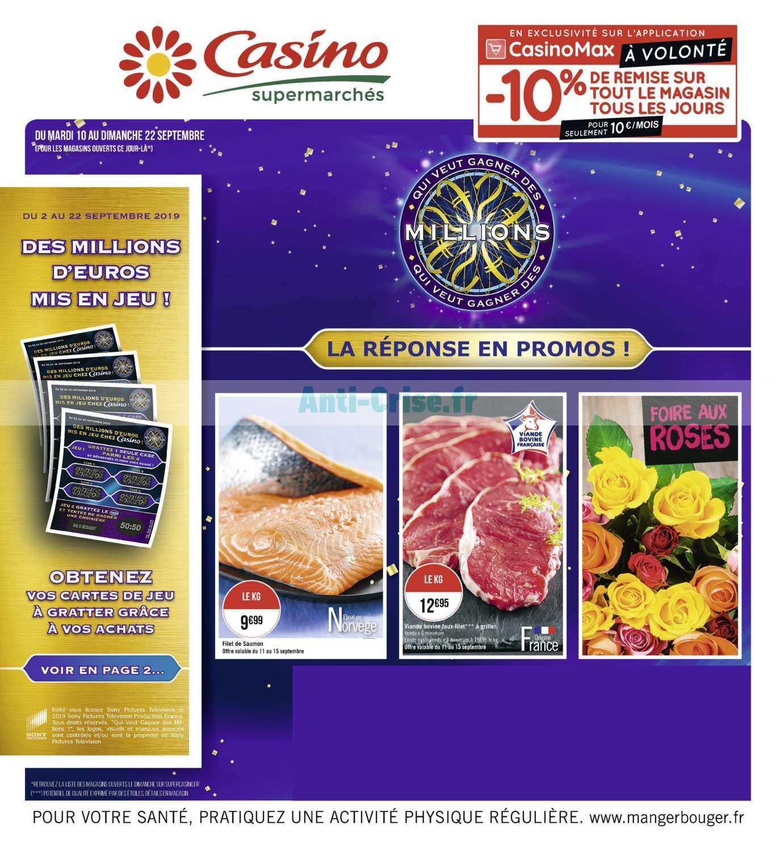Catalogue Casino du 10 au 22 septembre 2019