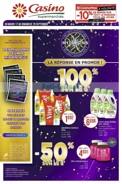 Catalogue Casino du 17 au 29 septembre 2019