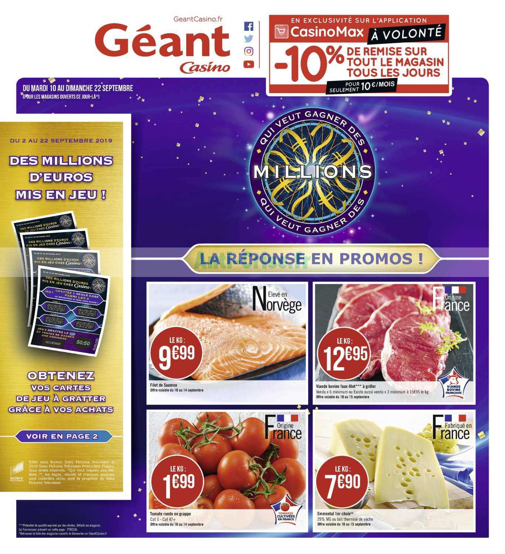 Catalogue Géant Casino du 10 au 22 septembre 2019