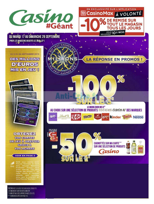 Catalogue Géant Casino du 17 au 29 septembre 2019
