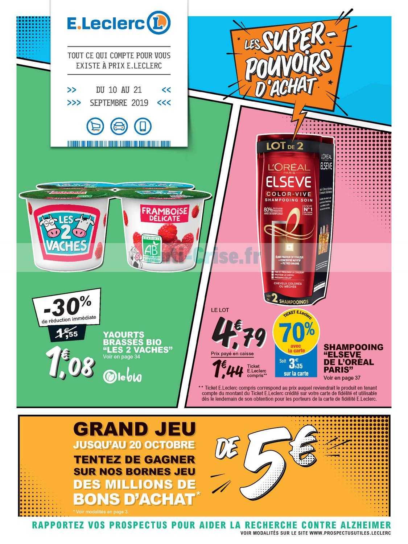 Catalogue Leclerc du 10 au 21 septembre 2019