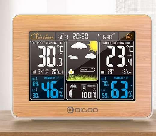 Moins de 12€ la centrale météo couleur Digoo DX Ex002