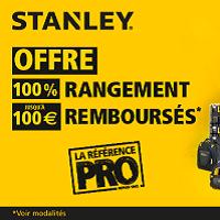 Offre de Remboursement Stanley : Jusqu'à 100€ Remboursés sur la Gamme Rangement (PRO)