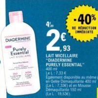 Lait Micellaire Diadermine chez Leclerc (22/10 – 02/11)