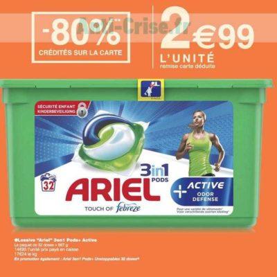Lessive en Capsules Ariel chez Monoprix (06/11 – 17/11)