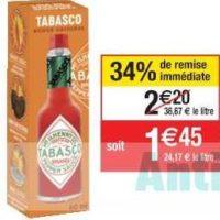 Sauce Pimentée Tabasco chez Cora (22/10 – 28/10)