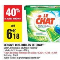 Lessive en Capsules Le Chat chez Carrefour Market (15/10 – 27/10)