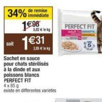 Sachets pour chats Perfect Fit chez Cora (22/10 – 28/10)