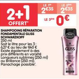 Shampoing Gliss chez Leader Price (15/10 – 27/10)