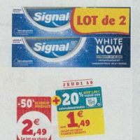 Dentifrice Signal White Now chez Magasins U (08/10 – 19/10)