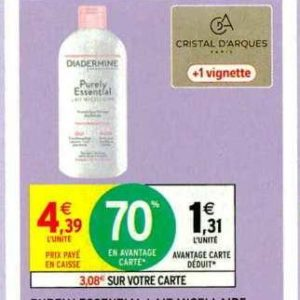 Produit Micellaire Diadermine chez Intermarché (05/11 – 17/11)